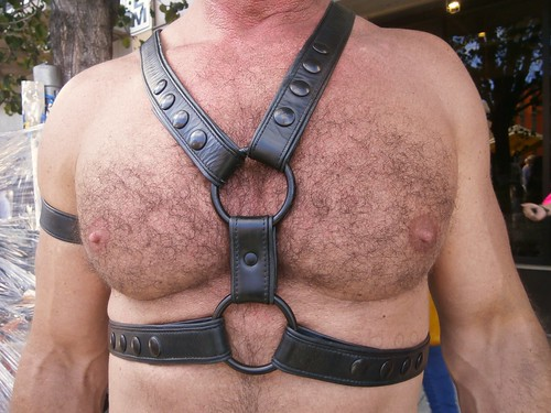 FOLSOM STREET FAIR 2013 ! HOT & HAIRY BULL CHEST (SAFE PHOTO)