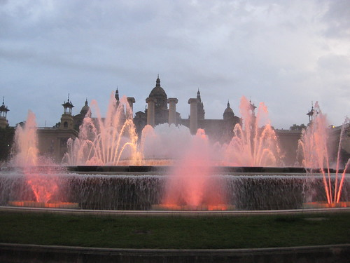 Nightly light show at Montjuic. From Foodie Finds: Exploring Barcelona, One Bite at a Time