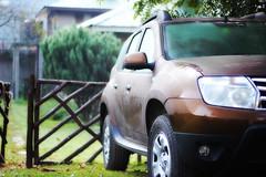 automobile(1.0), automotive exterior(1.0), sport utility vehicle(1.0), mini sport utility vehicle(1.0), vehicle(1.0), dacia duster(1.0), bumper(1.0), land vehicle(1.0),