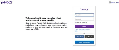 US Yahoo Login Shot