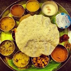Fantastic #vegetarian #thali in #Chennai, #India #food #foodporn #foodphotography #instahub #igrs #instafood #iphoneasia #iphonography #iphone4s