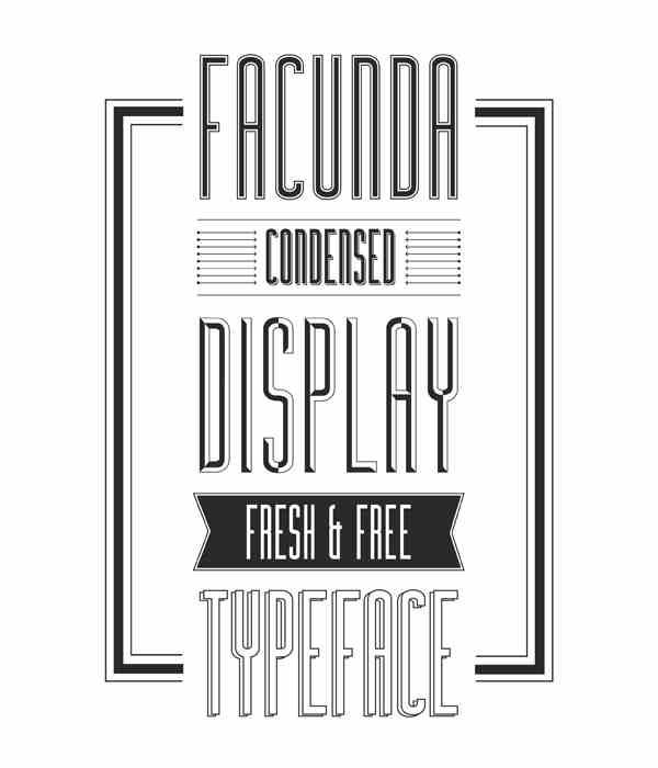 facunda tipografía gratuita