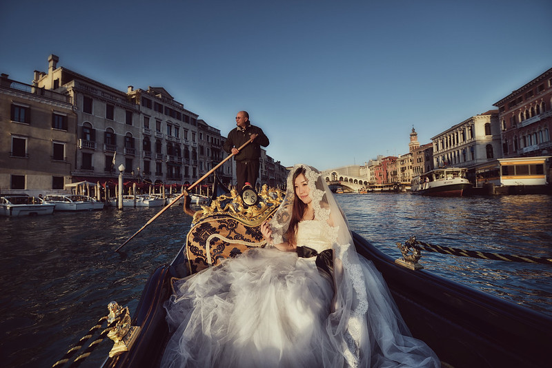 World Tour, Pre-Wedding, 自助婚紗, 海外婚紗, Fine Art, Venice, Gondola