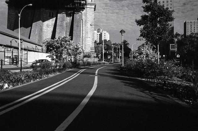 Bike Path Under The Manhattan Bridge