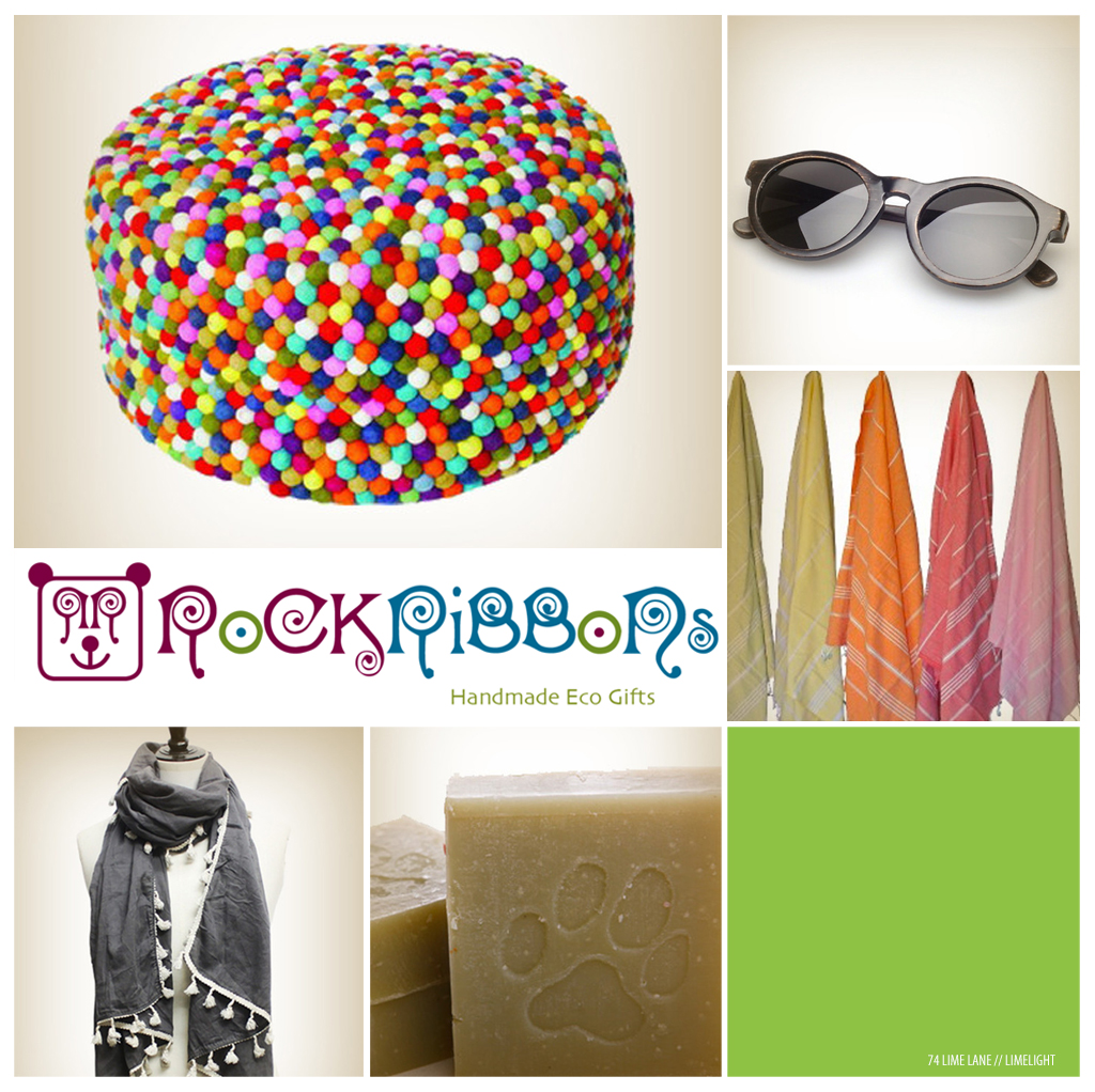 lime light // rock ribbons eco gifts
