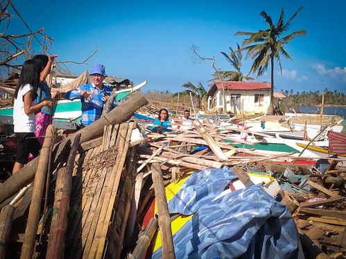 The effects of the Typhoon Haiyan in Panay Island - Philippines