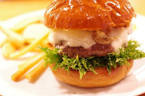 Mushroom Cheese Burger @ TIN'z BURGER MARKET 07 PENTAX K-3