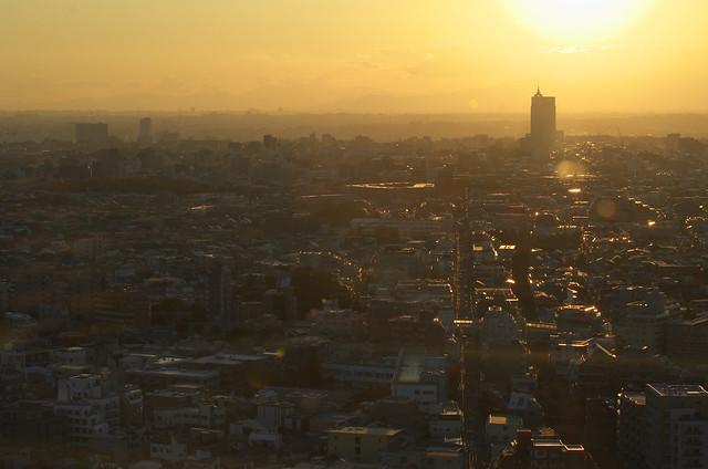 東京路地裏散歩 三軒茶屋にあるキャロットタワーからの眺め