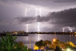 Lightening over Pumicestone Passage