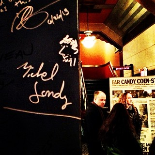 Michel Gondry's autograph at the Coolidge Corner Theatre