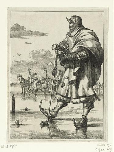005-Jugadores en el hielo, Romeyn de Hooghe, 1670 - 1685-Rijkmuseum