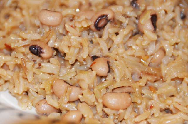 rice and blackeyed peas