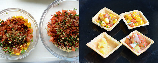 Canapes chaat canape chaat recipe raks kitchen for Canape online india