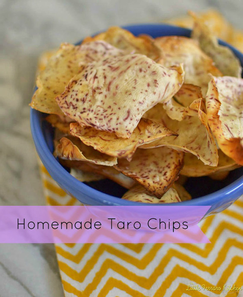 Homemade Taro Chips via LittleFerraroKitchen.com
