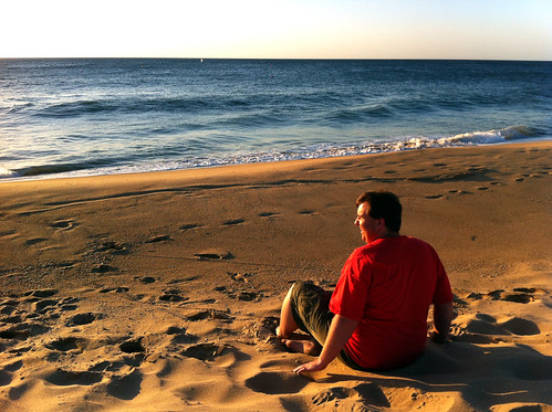 Mike, Sitting on Beach