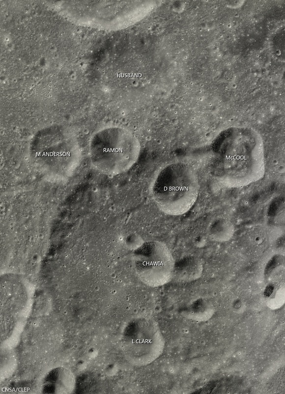 Columbia crater group, Apollo basin (Chang'e-2)