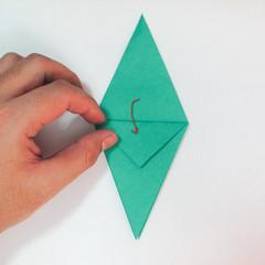 สอนวิธีการพับกระดาษเป็นรูปปลาฉลาม (Origami Shark) 018