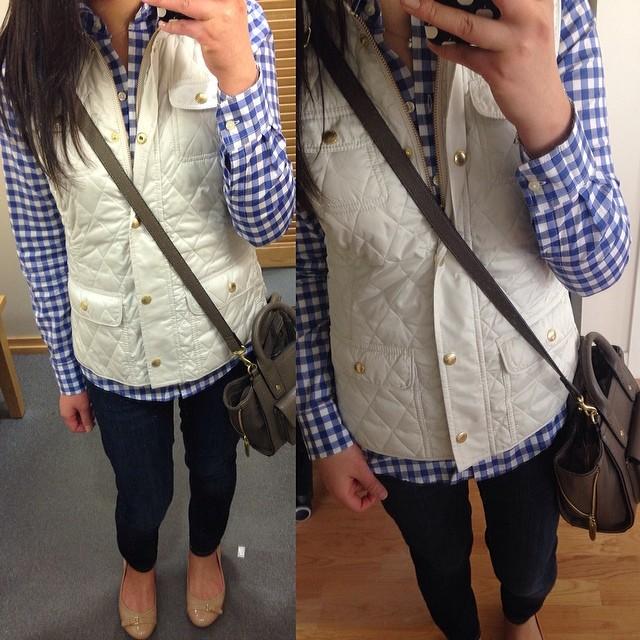 #OOTD from last weekend when it was warmer. I think I prefer the vest worn unzipped like in my other post last week.