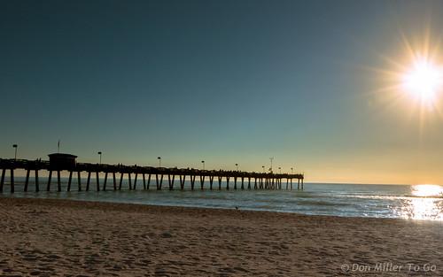 blue sun reflections pier seascapes sunsets beaches blueskies views100 sunsetmadness sunsetsniper