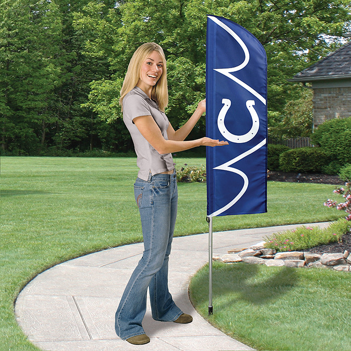 Indianapolis Colts Short Feather Flag