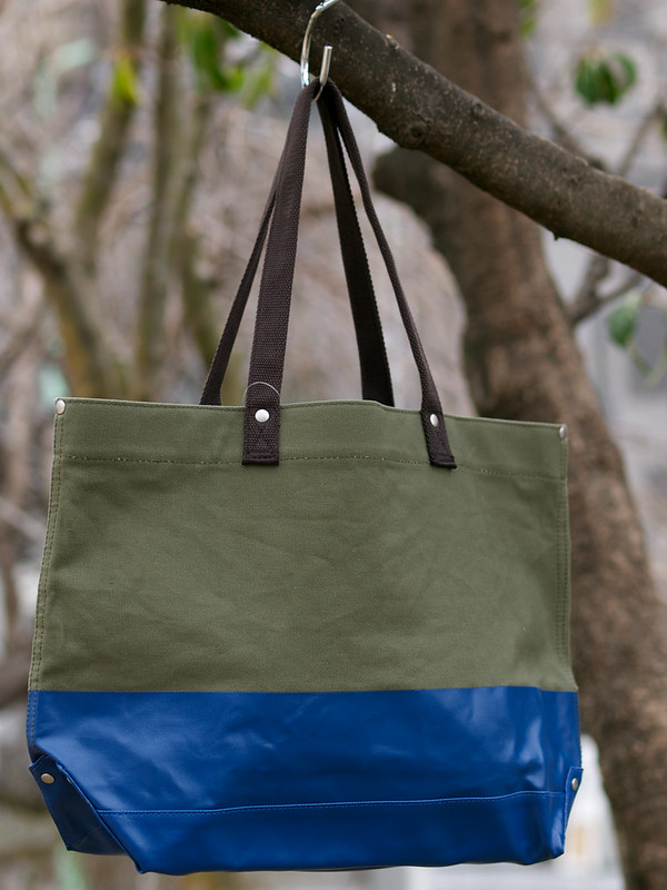 J.Crew / Colorblock Canvas Tote Bag