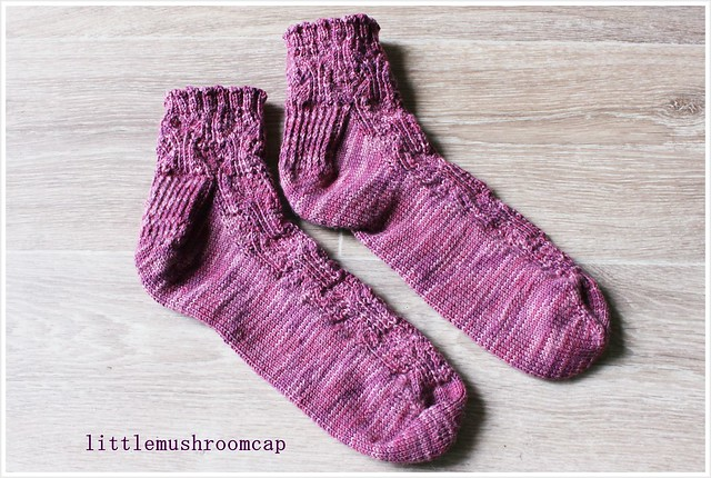 Pair of hand knit socks _ finish