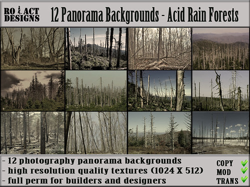 Panorama Backgrounds - Acid Rain Forests Poster