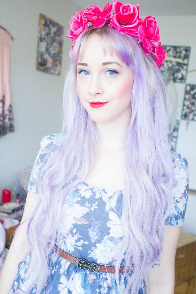 Hon hade blommor i sitt hår
