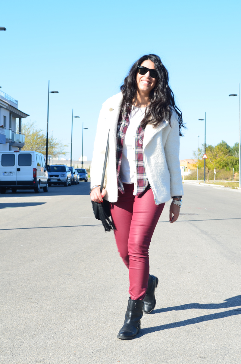 florenciablog total look burgundy inspiration burgundy look granate fieltro jacket cream jacket gandia españa bloggers