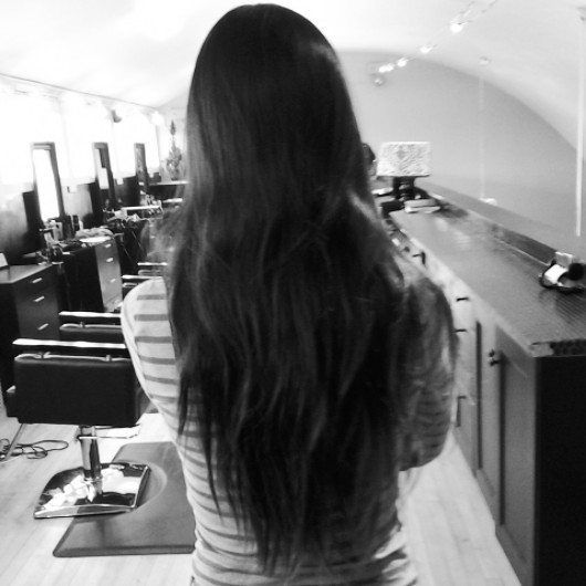 the ends of my hair at 2.5 years old