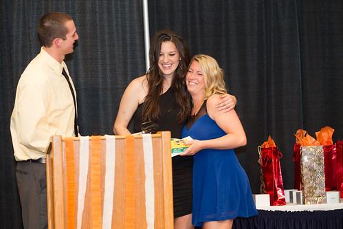 Vanessa Zilkie gets hug from Bronwyn Crawford (Apr 3, 2014 Snucins)