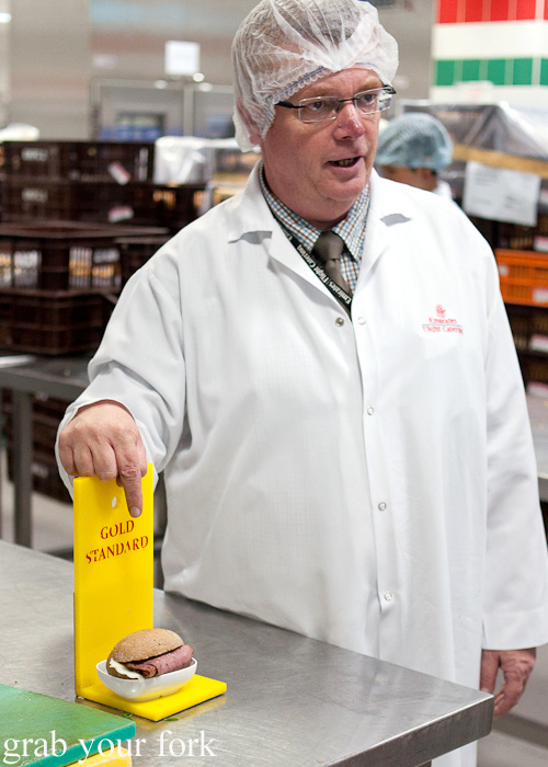 Gold Standard sample for visual accuracy during a behind-the-scenes tour of Emirates Flight Catering