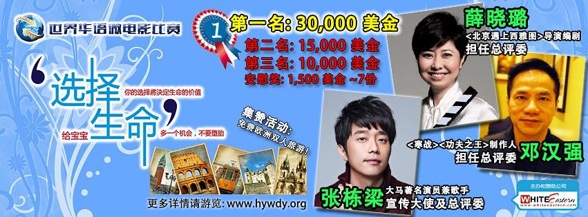 通过『世界华语微电影比赛』挽救每天被堕掉的120,000个无辜小生命! 13920924971_74210bbecf_b
