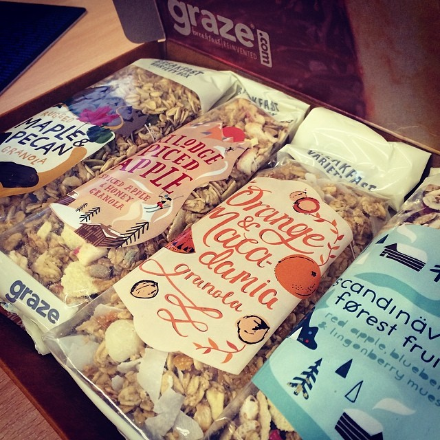Trying out the new graze breakfast boxes. Portions are HUGE!