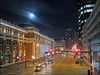 Full Moon on Granville Street by HereInVancouver