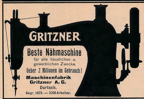 Fliegende Blätter 8 aug 1913,adv Gritzner