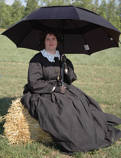 Sat, 09/10/2016 - 16:11 - A female Civil War re-enactor from last year's Orleans County Heritage Festival.