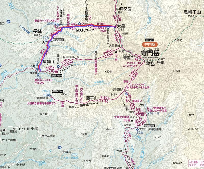 守門岳地図