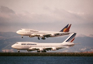 Boeing 747-400, Air France and Philipines Airlines SFO__widebodies