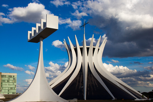 La Catedral Metropolitana Nossa Senhora Aparecida, Catedral de Brasilia, Brasil.