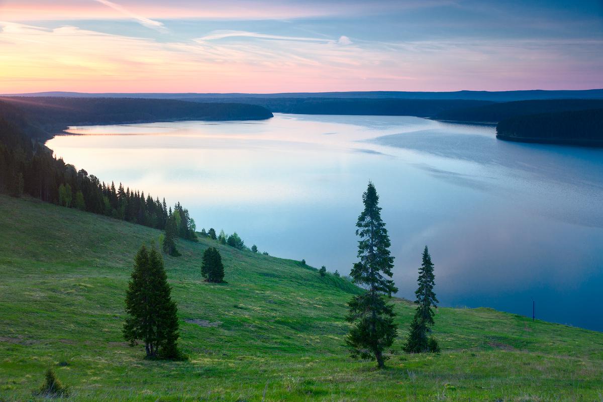 Рассвет на Михайловском водохранилище