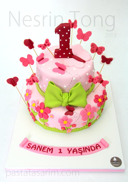 sanem 1st birthday cake