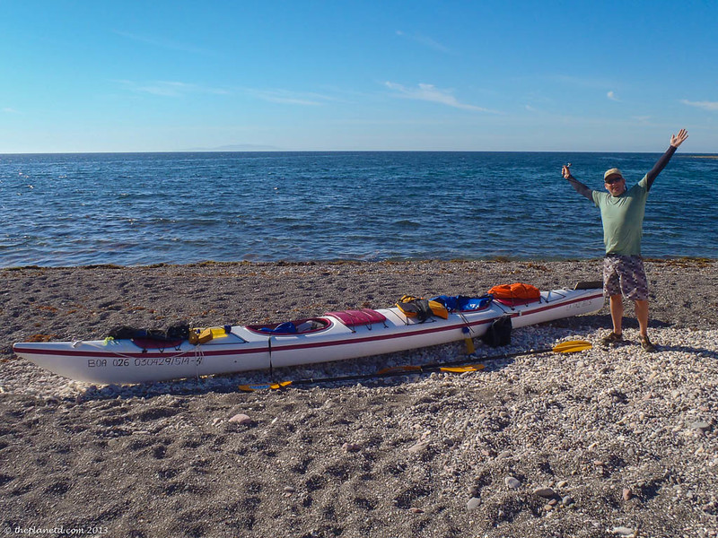 loaded kayak in Mexico