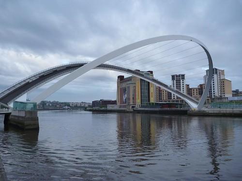 The Millenium Bridge, lifted