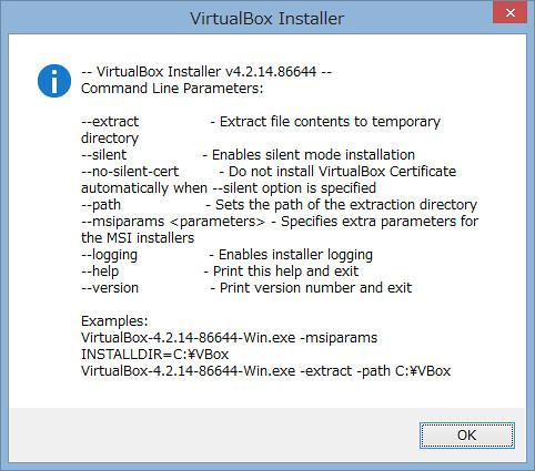 VirtualBox installer help