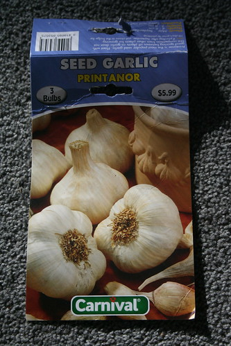 2013-08-06 - Farmlet - 08 - Garlic variety Printanor packet