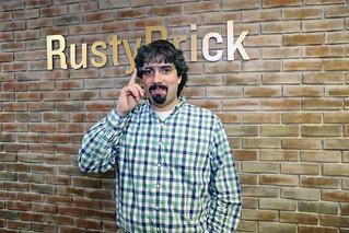 Barry Schwartz with Google Glass