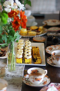 Afternoon tea at Lesley's place-Pukekawa