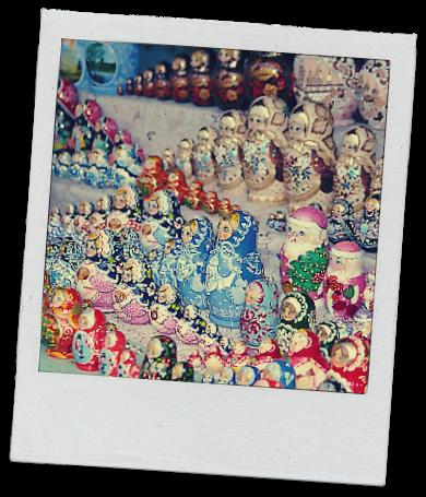 Matryoshka dolls, Moscow 1996