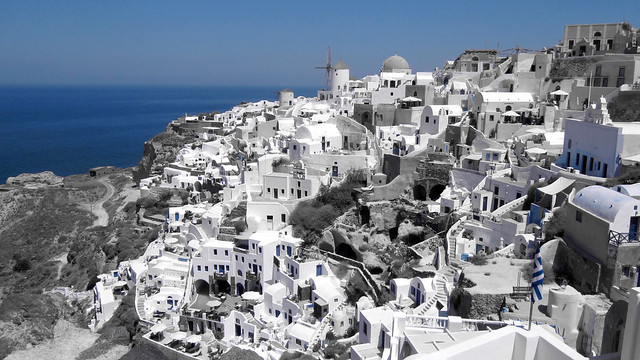 Blue in Santorini